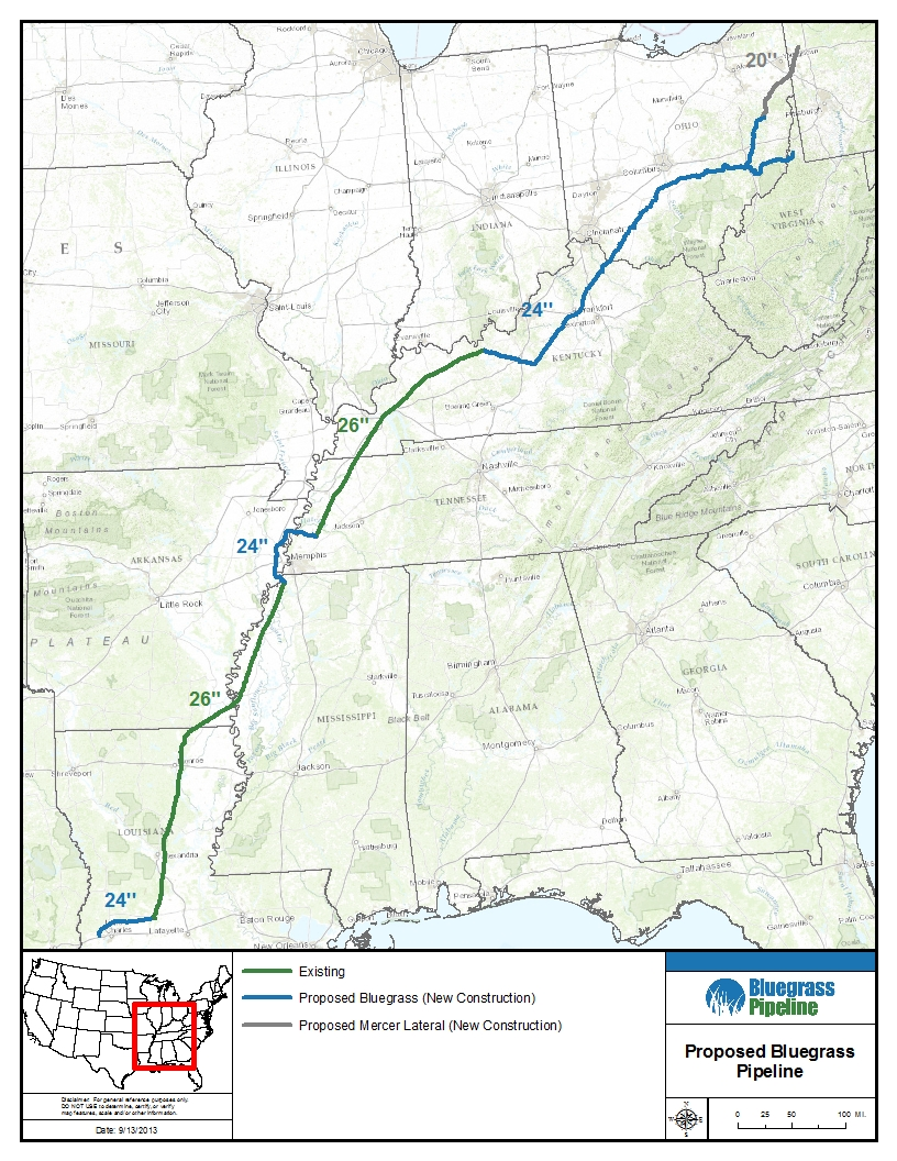 Proposed Bluegrass Pipeline Kentuckians For The Commonwealth - Map of existing us pipelines