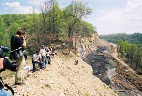 Ky authors on highwall Leslie Co May 2005