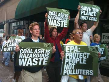 Coal ash rally in Louisville 2010
