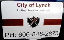 Lynch city sign