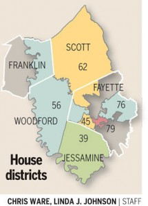 56th District map from the Lexington Herald-Leader