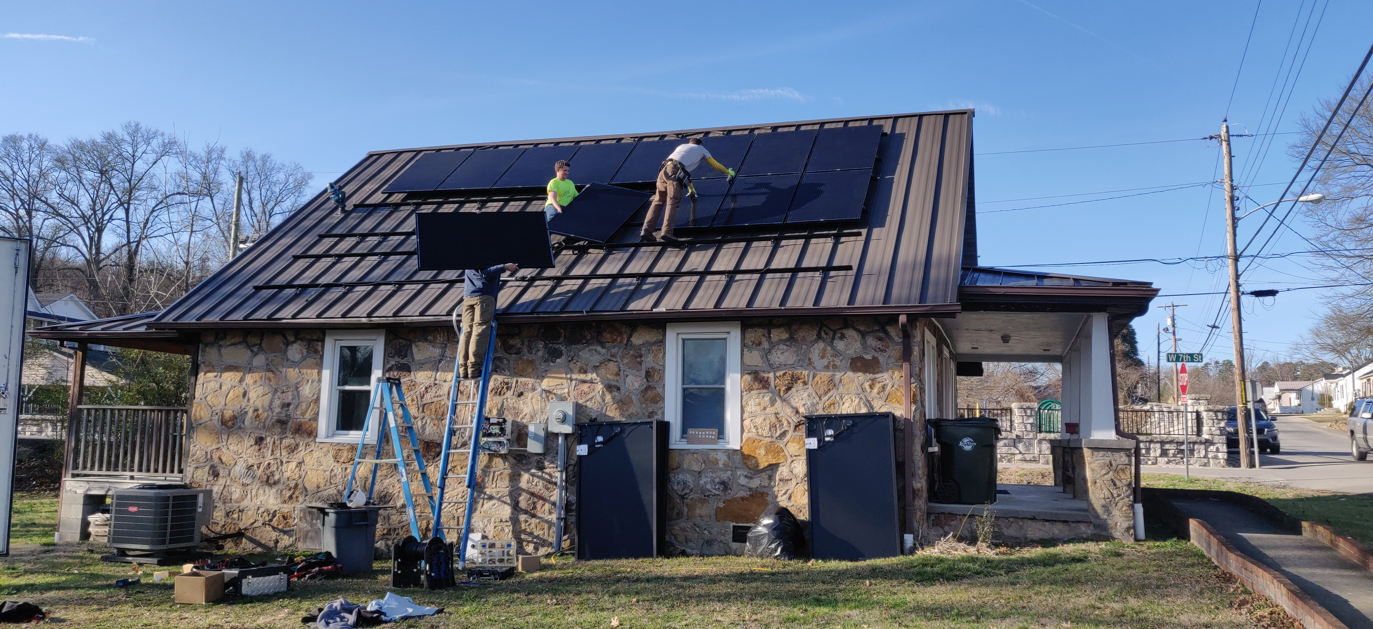 Installation of solar panels by Solar Energy Solutions