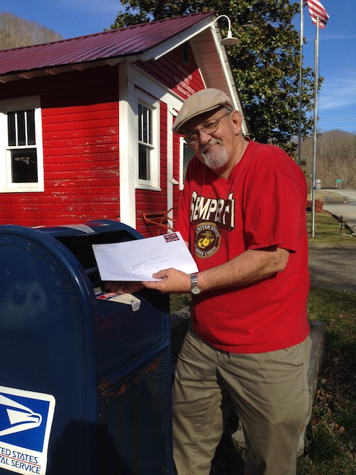 Carl Shoupe sends Congressman Hal Rogers the resolutions that were passed by local governments asking him to support the POWER+ Plan. Carl is a retired coal miner, member of KFTC, and member of the Benham Power Board, which passed a resolution in August 2015.