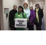 KFTC members deliver petitions in support of the RECLAIM Act to the office of Sen. Mitch McConnell