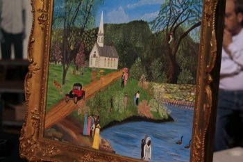 Painting by artist Bessie Johnson (photo courtesy of the Voice Tribune)