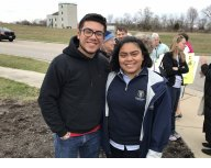 Two DACA students who shared their stories, and described how the immigration system impacts families