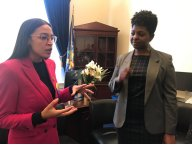 KFTC chairperson met with Rep. Alexandria Ocasio-Cortez in January 2019, just days after she was sworn into office.