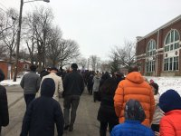 Marchers at the 16th Annual MLK March in Georgetown!