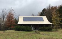 A home with solar panels on its roof