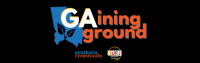 GAining Ground graphic with black background